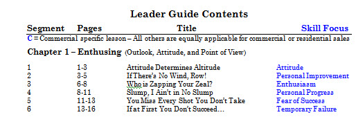 Leader Guide Table of Contents Chapter 1